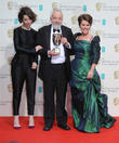 Sally Hawkins, Imelda Staunton and Mike Leigh
