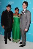 Salvador Perez, Mindy Kaling and Ike Barinholtz