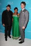 Salvador Perez, Mindy Kaling and Ike Barinholtz