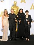 Jennifer Aniston, Dirk Wilutsky, Laura Poitras and Mathilde Bonnefoy