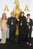 Jennifer Aniston, Dirk Wilutzky, Laura Poitras and Mathilde Bonnefoy