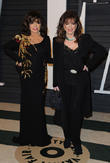 Joan Collins and Jackie Collins