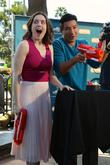 Meghan Boone and Mario Lopez