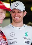 Nico Rosberg and Niki Lauda