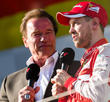 Arnold Schwarzenegger and Sebasian Vettel