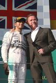Lewis Hamilton and Arnold Schwarzenegger
