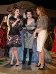 Holliday Grainger, Helena Bonham Carter and Lily James