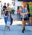 Kim Kardashian, Kourtney Kardashian, North West, Mason Disick and Penelope Disick