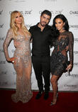 Paris Hilton, Charbel Zoe and Lilly Ghalichi