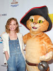 Jayma Mays and Puss In Boots