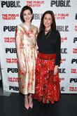 Anne Hathaway and Julie Taymor