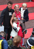Paula Radcliffe, Gary Lough, Raphael Lough and Isla Lough