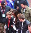 David Beckham, Victoria Beckham, Brooklyn Beckham and Romeo Beckham