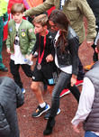 Victoria Beckham, Romeo Beckham and Cruz Beckham