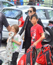 Angelina Jolie, Pax Jolie-Pitt and Knox Jolie-Pitt