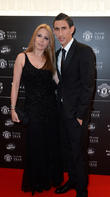 Manchester United, Angel Di Maria and Jorgelina Cardoso