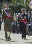 Guards and King Felipe Of Spain
