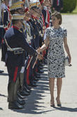 Guards and Queen Letizia of Spain