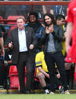 Russell Brand and Harry Redknapp