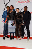 Pharrell Williams, Helen Lasichanh, Kanye West and Kim Kardashian