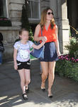 Geri Halliwell and Bluebell Halliwell