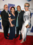Emilio Estefan, Gloria Estefan, Quincy Jones and Sharon Stone