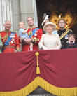Prince George, Prince William, Queen Elizabeth II, Prince Harry and Prince Charles