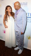 Leslie Lopez and Russell Simmons