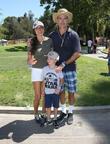 Richard Burgi, Liliana Lopez and Son