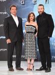 Arnold Schwarzenegger, Emilia Clarke and Jai Courtney