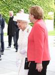 Queen Elizabeth II and Angela Merkel