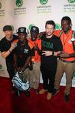 Donnie Wahlberg, Mark Wahlberg and Coney Island Race Pit Crew