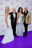 Bruce Forsyth, Lady Wilnelia Forsythm John, Claire Caudwell and Butterfly