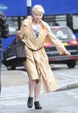 Dame Vivienne Westwood at London Waterloo station
