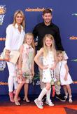 Steven Gerrard, wife Alex Gerrard, daughters Lilly-Ella Gerrard, Lexie Gerrard and Lourdes Gerrard