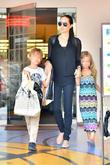Angelina Jolie, Knox Jolie-Pitt and Vivienne Jolie-Pitt