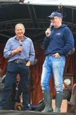 Jody Scheckter and Chris Evans