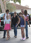 Denise Richards, Sam Sheen, Lola Rose Sheen and Eloise Joni Richards