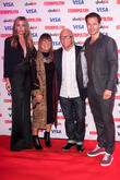 Abbey Clancey. Hillary Alexander, Paul Sculfor and Nicky Johnston