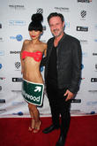 Bai Ling and David Arquette at Arclight Cinemas