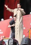 Stephen Colbert and Hugh Jackman