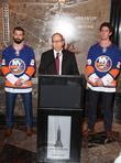 Nick Leddy, Jon Ledecky and Brock Nelson