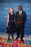 Kathy Calvin and Kofi Annan