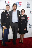 Ray Romano, Christopher Brown Us Marine and Elana Duffy Us Army