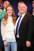 Granddaughter Franka Weckner and Dr. Norbert Bluem