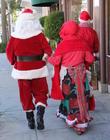 Santa Claus and Mrs Claus