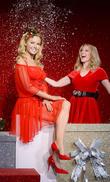 Kylie Minogue Unveils Festive Waxwork At Madame Tussauds