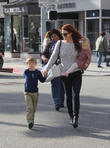Ali Larter, Theodore Macarthur and Vivienne Macarthur at Beverly Hills