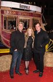 Kurt Russel, Jennifer Jason Leigh and Quentin Tarantino