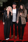 Jess Woodley, Jamie Laing and Guest